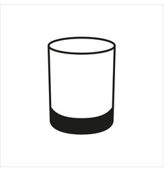 Single glass in simple monochrome style icon vector