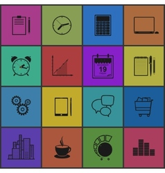 Stylish modern flat icons collection vector