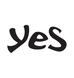 Word yes icon simple style vector