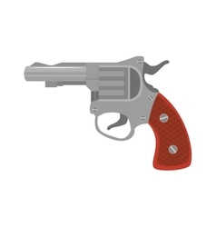Revolver weapon handgun vector