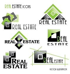 Modern real estate icons vector