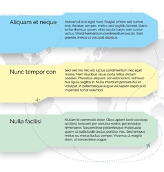 template Set of infographic elements vector image