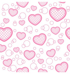 Light seamless pattern with hearts vector image