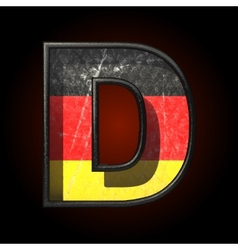 Germany cutted figure d vector