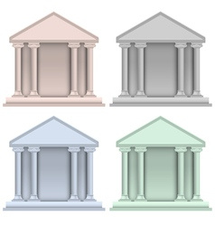 Building bank icons vector image