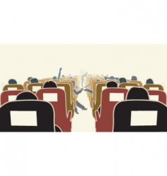 Airplane interior vector