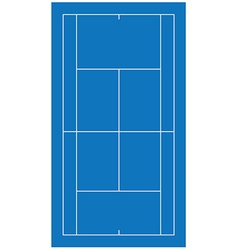 Tennis court blue vector