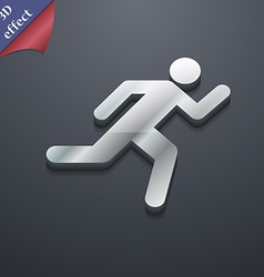 Running man icon symbol 3d style trendy modern vector