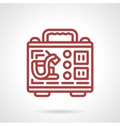 Tattoo kit red line icon vector