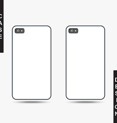 Isolated template cover for phone create vector