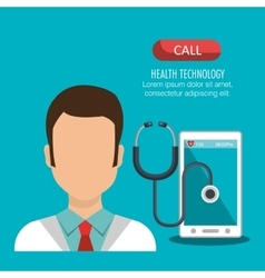 health technology design vector image