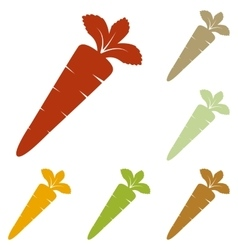 Carrot sign vector