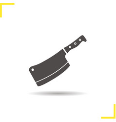 Butcher knife icon vector image