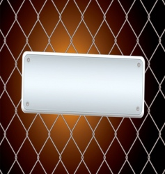 Sign fence night vector