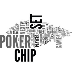 a great poker chip set a must have for your next vector image