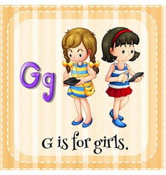 A letter g for girls vector