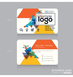 Abstract Modern Business card Design Template vector image vector image