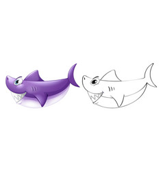Animal outline for shark vector
