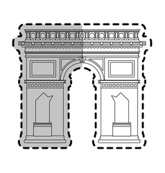 Arc de triomphe paris icon image vector
