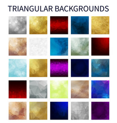 big set of colorful triangular backgrounds vector image vector image
