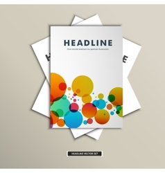 Book cover with chaotic colored balls eps vector