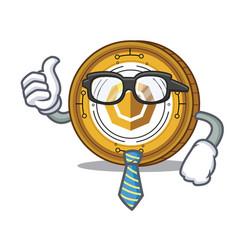 Businessman komodo coin character cartoon vector