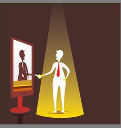 Businessmen virtual meeting concept design vector