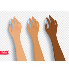 Collection of hands with computer mouse vector