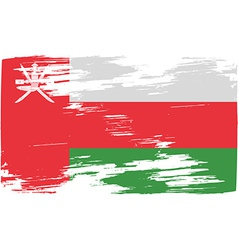 Flag of Oman with old texture vector image