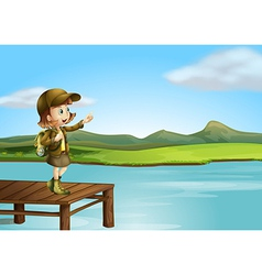 Girl explorer vector image