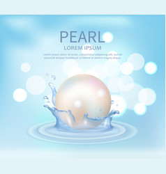 huge white shiny pearl vector image