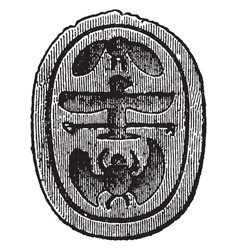 Intaglio engraved gem sculpture vintage engraving vector