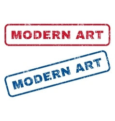 Modern art rubber stamps vector