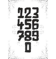 Numerals set vector image vector image
