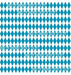 oktoberfest background pattern vector image