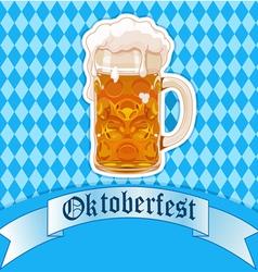 Oktoberfest beer glass vector image vector image
