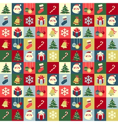 pattern christmas vector image