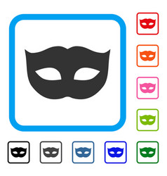 privacy mask framed icon vector image vector image