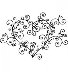 romantic heart vignette vector image vector image