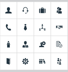 Set of simple icons element vector