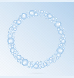 Soap bubbles circle vector