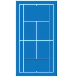 Tennis court blue vector
