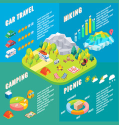 travel infographic in isometric style vector image