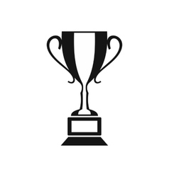 Trophy cup icon simple style vector image vector image