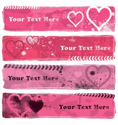 Valentine's Banners II vector image vector image