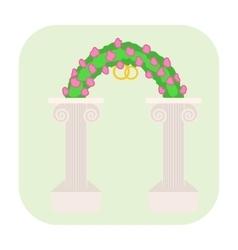 Wedding altar cartoon icon vector