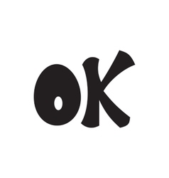 Word ok icon simple style vector