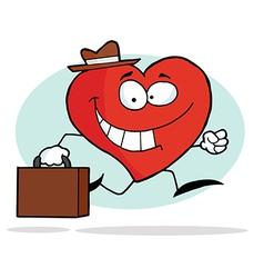 Happy Business Heart vector image