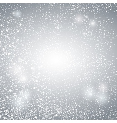 Abstract Lights with Snowflakes on Grey and Silver vector image
