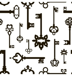 Ornamental medieval vintage keys pattern vector image
